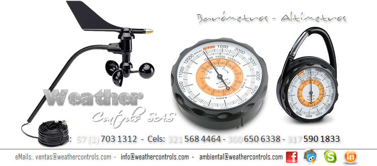 Weather Controls Barometros Altimetros