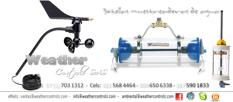 Weather Controls Botellas Muestreadoras de Agua