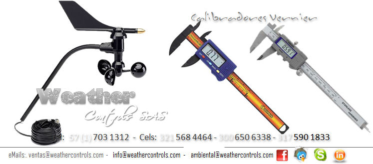 Weather Controls Calibradores Vernier