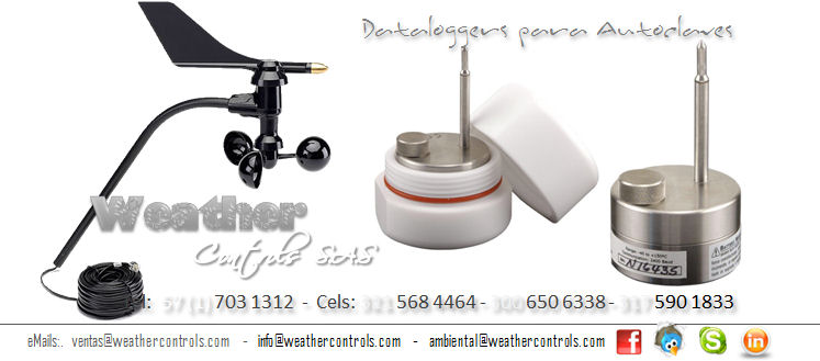 Weather Controls Dataloggers para Autoclave