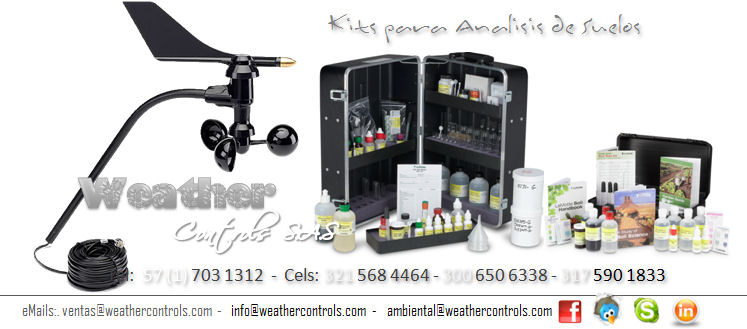 Weather Controls Kits para Analisis de Suelos