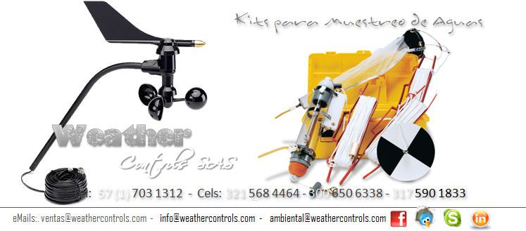Weather Controls Kits para Muestreo de Aguas