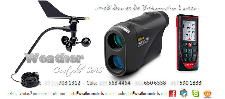 Weather Controls Medidores de Distancia Laser