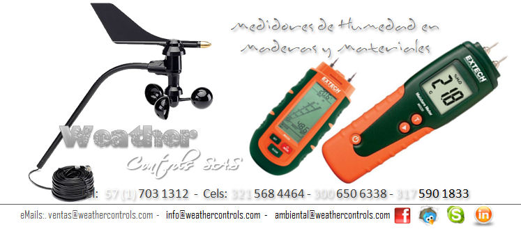 Weather Controls Medidores de Humedad en Maderas y Materiales