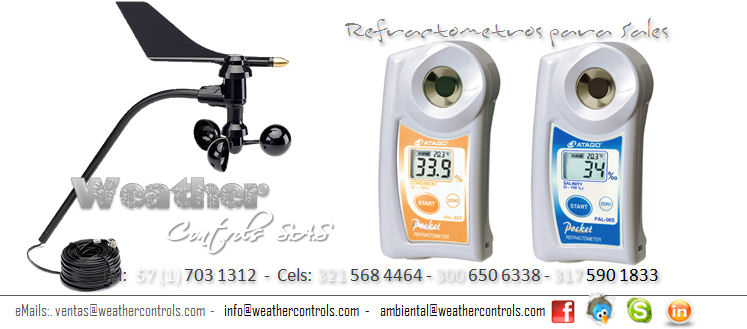 Weather Controls Refractometros para Sales