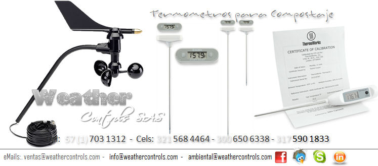 Weather Controls Termometros de Compost