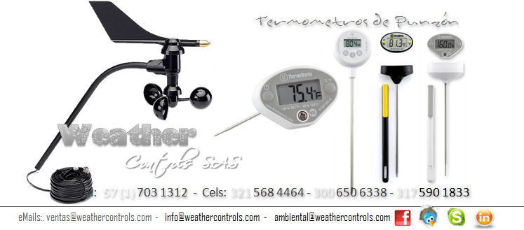 Weather Controls Termometros de Punzon